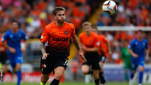 Dundee United forward David Goodwillie