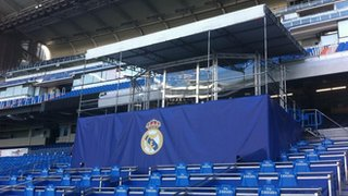 Stage at the Bernabeu to unveil Gareth Bale