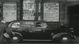 Outside of London Victoria station in 1953
