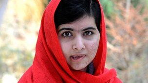 An image grab taken from handout video footage released by the Malala Fund on April 5, 2013