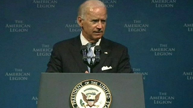 US Vice-President Joe Biden