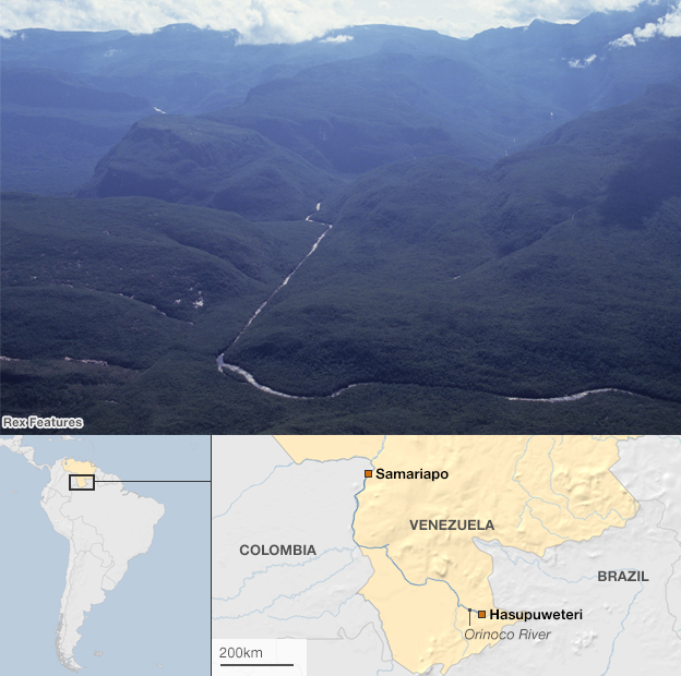 David's journey along the Orinoco