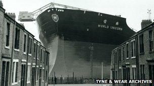 The World Unicorn was launched from Swan Hunter in Wallsend in 1973