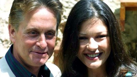 Michael Douglas and Catherine Zeta Jones in 2001