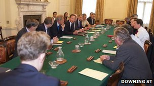 politicians and military figures in 10 downing st