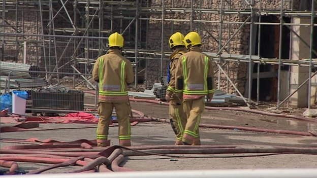 Firefighters on site at police centre