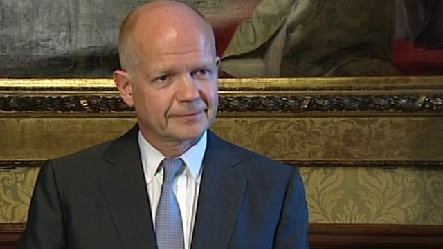 UK Foreign Secretary William Hague