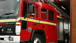 Staffordshire Fire and Rescue engine