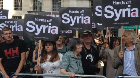 London anti-war protest