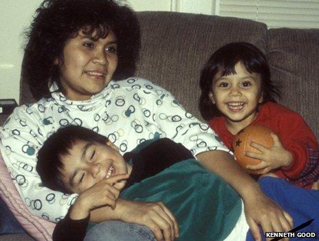 Yarima, David and Vanessa at home in the US