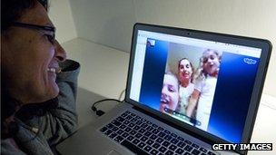 Family uses Skype