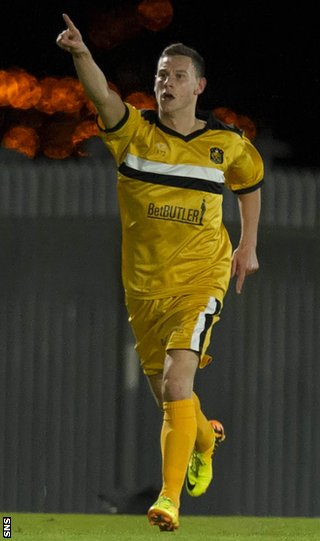 Mitch Megginson celebrates