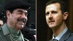 Saddam Hussein and Bashar Assad