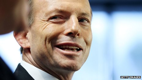 Tony Abbott speaks to the media at a press conference on 7 August 2013