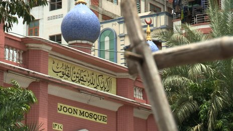 Joon Mosque in Mandalay, in Myanmar, formerly known as Burma
