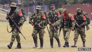 ELN rebels demobilise in Cali on 16 July 2013