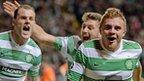 James Forrest celebrates goal