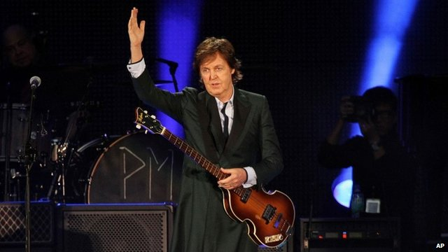Paul McCartney at Fenway Park in Boston, July 9 2013
