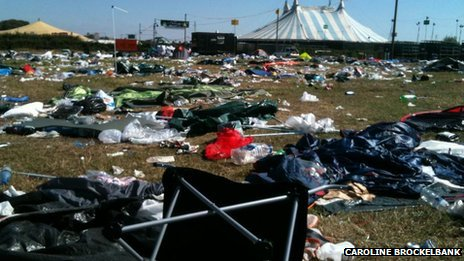 Reading Festival rubbish