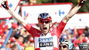 Michael Morkov wins stage six