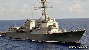 Destroyer USS Gravely in 2011