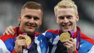David Weir and Jonnie Peacock