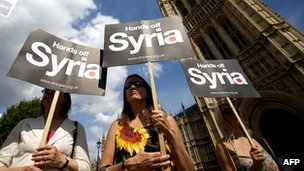 Protest against Syria intervention
