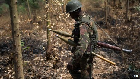 A government soldier in DR Congo (15 July 2013)