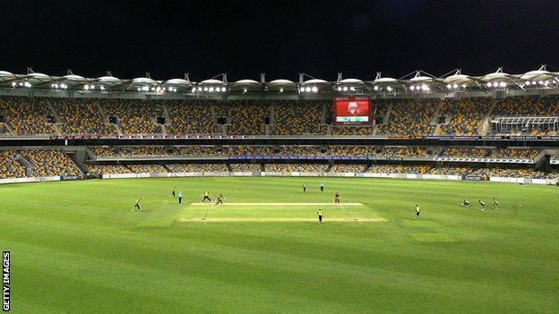 The Gabba in Brisbane, staging an floodlit game