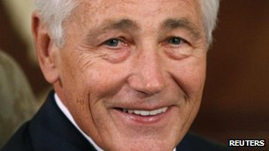 The US Defence Secretary Chuck Hagel