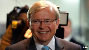 Kevin Rudd, pictured August 2013