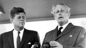 John F Kennedy and Harold Macmillan in June 1963