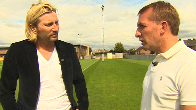 Robbie Savage and Liverpool boss Brendan Rodgers