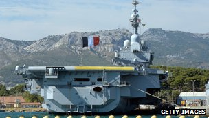 The aircraft carrier Charles de Gaulle