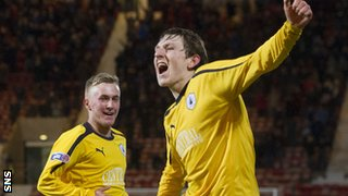 Falkirk's Blair Alston celebrates