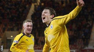Falkirk's Blair Alston celebrates
