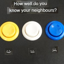 Electronic keypad used in Cambridge community experiment