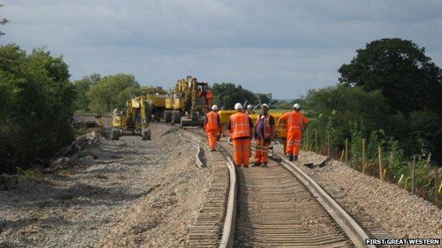 Puriton derailment works