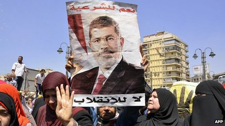 Supporters of Mohammed Morsi protest in Cairo. 30 Aug 2013