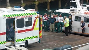 Sark carriage crash: Injured transferred from marine ambulance to shore