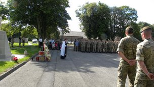 A memorial parade held at Catterick Garrison earlier