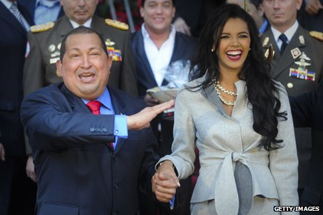 Hugo Chavez with Miss World 2011, Ivian Sarcos