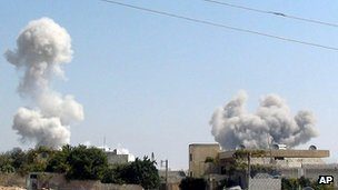 Air strike in Idlib province, Syria. 30 Aug 2013