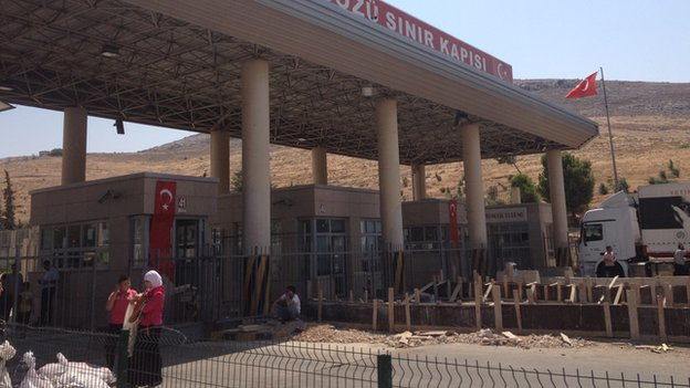 Cilvegozu border crossing point on Turkish-Syria frontier, 30 August 2013.