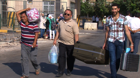 Syrian refugees at the Turkish-Syrian border, 30 August, 2013.