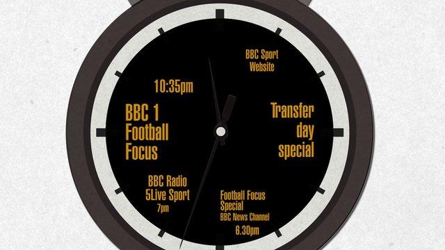 Transfer Deadline day on the BBC
