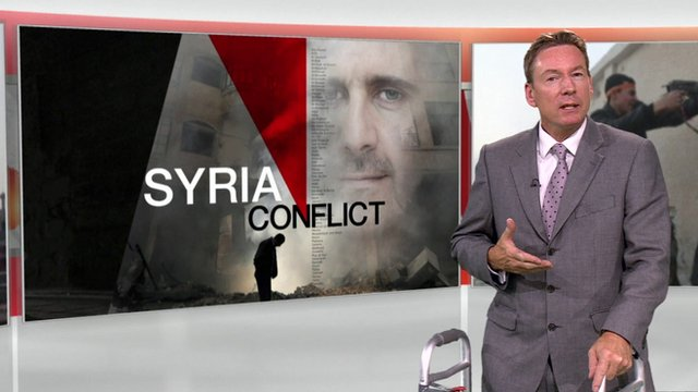 Putin challenges US on Syria claims