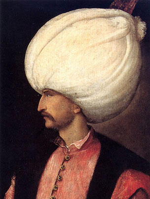 Suleiman the Magnificent (portrait 1520, school of Titian)
