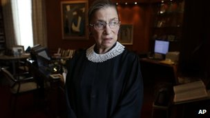 Ruth Bader Ginsburg in a 24 July file photo
