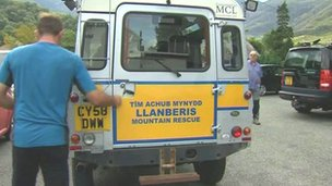 Llanberis mountain rescue vehicle